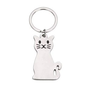 CAT Key Ring Silver Color